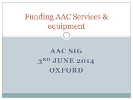 Specialist AAC Services/Hubs