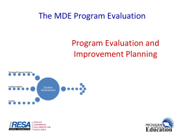 MDE Program Evaluation Process