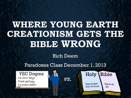 Where Young Earth Creationism Gets the Bible Wrong PowerPoint