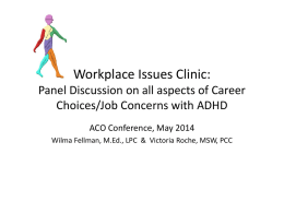 Workplace Issues Clinic - ADHD Coaches Organization