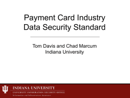 The PCI DSS - Protect IU