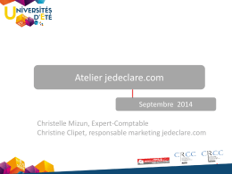 Universités Eté - OEC Paris - Septembre 2014