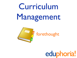 Curriculum Management Planning (PowerPoint)
