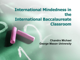 International Mindedness in the IB Classroom