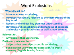 Word Explosions - Emma Sheppard
