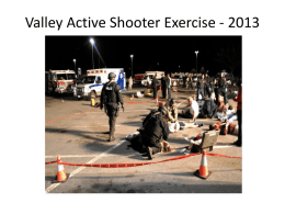 Valley Active Shooter Exercise review