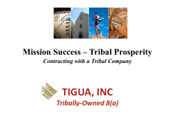 John Baily 8A tribal companies - National Contract Management