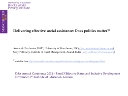 Delivering effective social assistance
