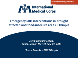 Tenaw Bawoke , IMC: Emergency Sexual and Reproductive