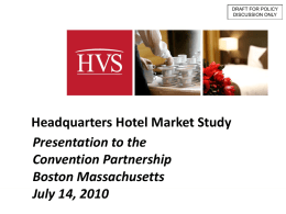 Headquarters Hotel Market Study