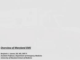 Overview of Maryland Emergency Medical Services (P