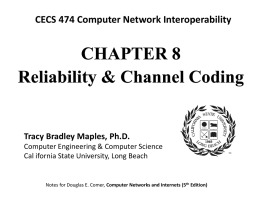 Chapter 8 -- Reliability - California State University, Long Beach