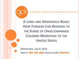 A Long and Dangerous Road - Grantmakers Concerned with