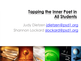 Tapping the Inner Poet in All Students