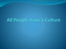 All People Have a Culture
