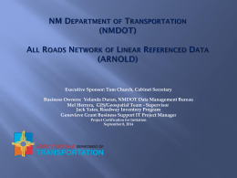NM Department of Transportation (NMDOT) All Roads Network of