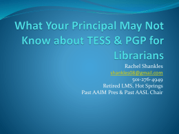 What Your Principal May Not Know about TESS