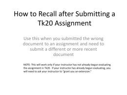 How to Recall an Assignment in Tk20