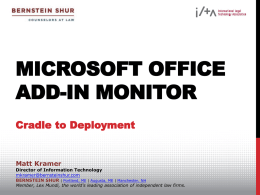 Office Add-In Monitor