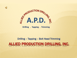 - Allied Production Drilling