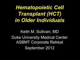Dr. Sullivan - American Society for Blood and Marrow Transplantation