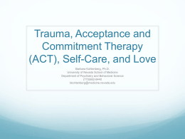 Trauma, Acceptance and Commitment Therapy