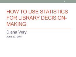 MBA for Librarians Statistics Presentation - ALA-APA