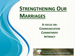 Emotional Intimacy - Apostolic Christian Church of Tremont, Illinois
