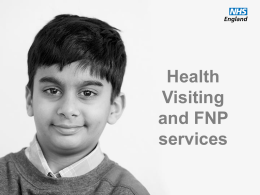 Health Visiting & FNP Services