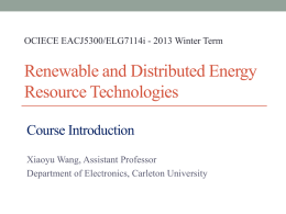 Course introduction - Department of Electronics