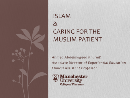 Caring for the Muslim Patient