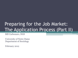 Preparing for the Job Market-part-II-2012
