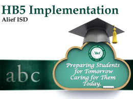 the AISD HB5 Implementation Plan