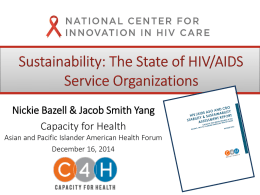 HIV/AIDS ASO and CBO Stability & Sustainability