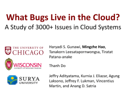 What Bugs Live in the Cloud? A Study of 3000+ Issues in