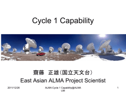 ALMA Development WS 報告