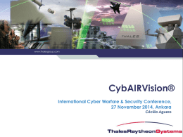 Ms. Cecilia AGUERO Cyber Technical Capture, Thales Raytheon