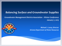 Arizona Department of Water Resources