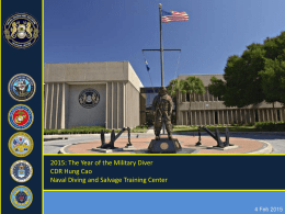 power point presentation - Navy Divers Association