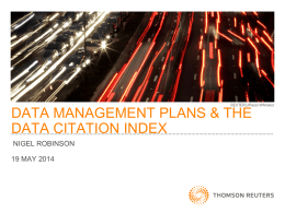 data management plans & the data citation index