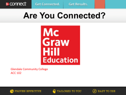 Connect. Learn. Succeed. - Glendale Community College