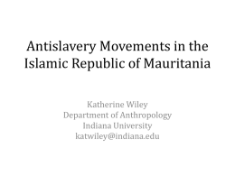Antislavery Movements in the Islamic Republic