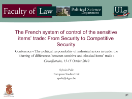 French sensitive items EC system