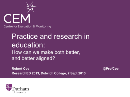Practice and research in education: How can we make both better
