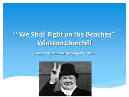 We Shall Fight on the Beaches