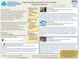 How do we improve Pharmaceutical Care for Older People