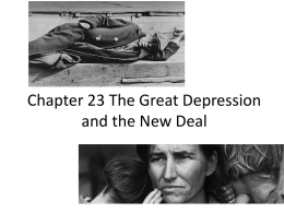 Chapter 23 The Great Depression and the New Deal