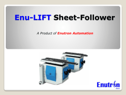 Enu-LIFT Sheet-Follower