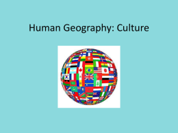 Human Geography: Culture
