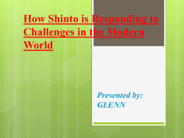How Shinto is Responding to Challenges in the Modern World